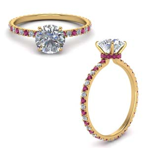 eternity-hidden-halo-round-cut-diamond-engagement-ring-with-pink-sapphire-in-FD9168RORGSADRPIANGLE3-NL-YG