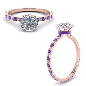 Under Halo Purple Topaz Ring
