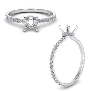 Eternity Hidden Halo Ring Setting