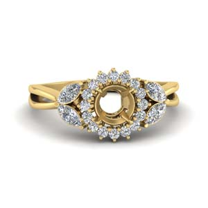 Semi Mount Halo Engagement Ring