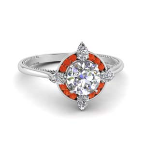 Channel Set Moissanite Engagement Rings