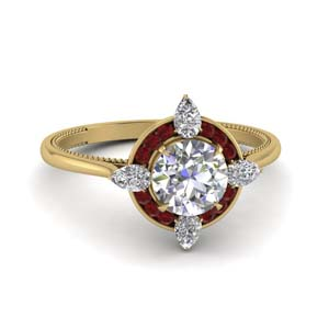 Ruby Channel Set Halo Ring