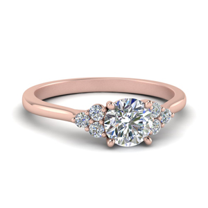 Petite Cathedral Round Diamond Ring