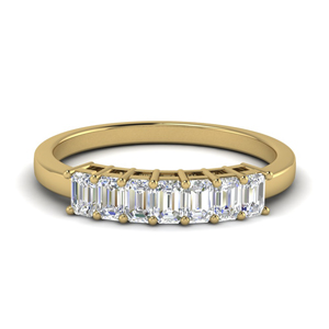 Colored Baguette Wedding Band 0.75 Carat