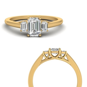 Popular Emerald Cut Diamond Rings