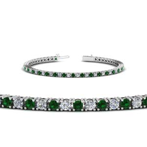 3 Ct. Emerald Tennis Bracelet
