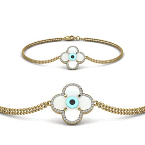 Flower Devil Eye Bracelet