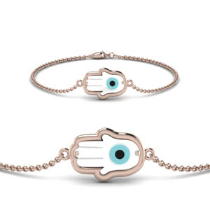 Rose Gold Hand Eye Bracelet