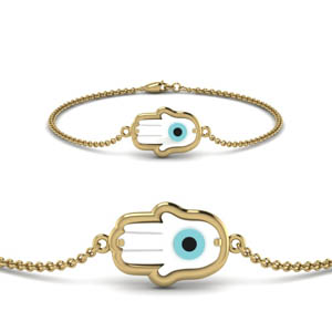 Palm Shaped Evil Eye Bracelet
