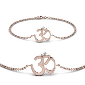 OM Bracelet In 18K Rose Gold