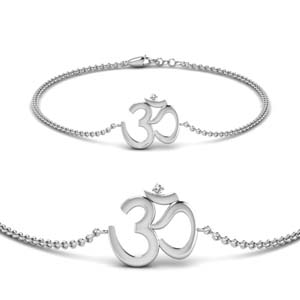 OM Diamond White Gold Bracelet