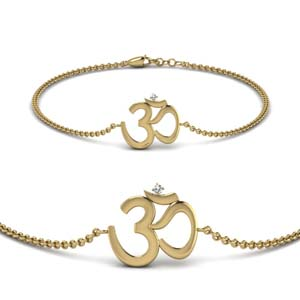 OM Diamond Gold Bracelet