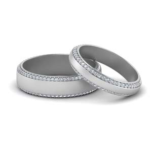 Diamond Bands For Him And Her