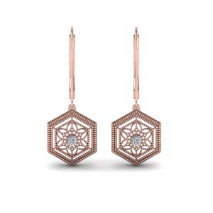 Floral Rose Gold Vintage Earring