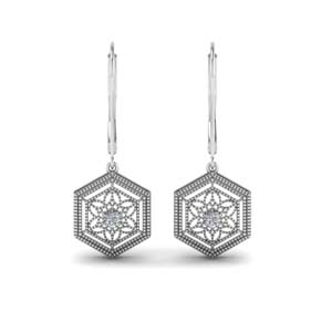 Filigree Leverback Dangle Earring