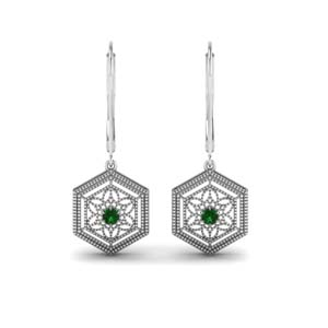 Filigree Leverback Drop Earring
