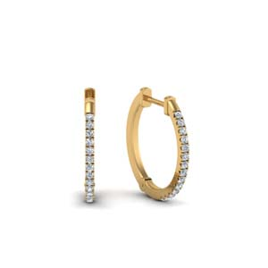 Womens Diamond Hoop Earring