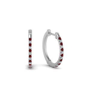 Hoop Earrings With Ruby