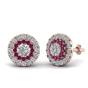 0.75 Ct. Halo Stud Earring
