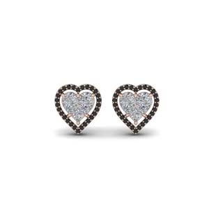 Invisible Set Black Diamond Stud Earring