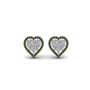 Invisible Heart Stud Earring