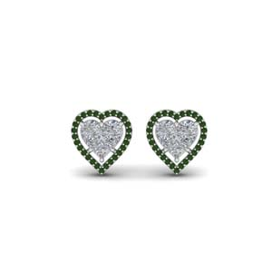 Stud Earring Heart Halo