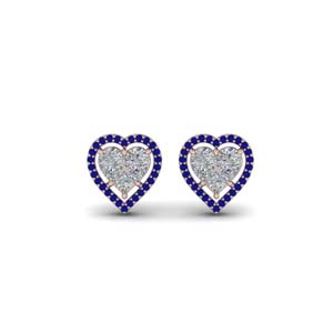Invisible Heart Halo Stud Earring