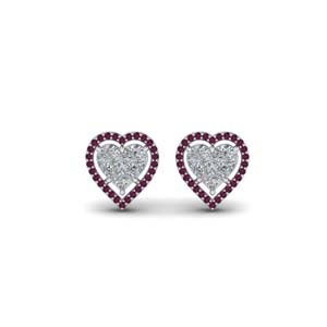 Invisible Set Heart Stud Earring