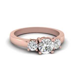 3 Stone Round Engagement Ring