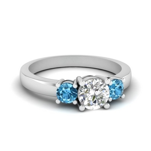 Blue Topaz Ring In Platinum