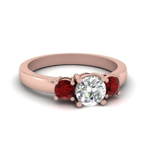 Ruby With Diamond Wedding Ring