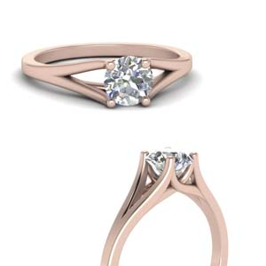 Solitaire Round Cut Engagement Rings