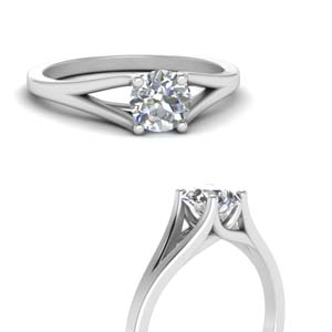 Solitaire 18K White Gold Ring