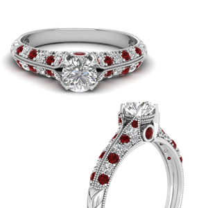 Ruby Thick Band Diamond Ring