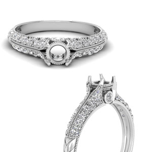 2 Row Diamond Ring Setting
