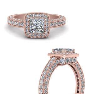Art Deco Design Engagement Rings