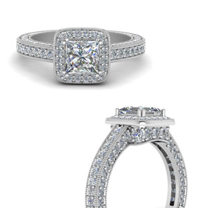 beautiful-antique-looking-diamond-princess-cut-engagement-ring-in-FDENR6553PRRANGLE3-NL-WG