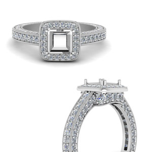 Semi Mount Vintage Diamond Ring