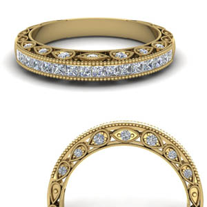 Filigree Channel Diamond Band