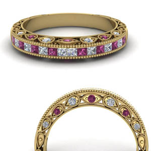 Vintage Pink Sapphire Band
