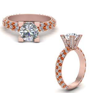 Triple Row Pave Ring