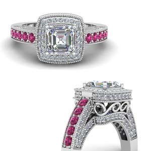 Pink Sapphire Traditional Ring