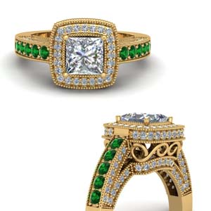 Traditional Square Emerald Ring