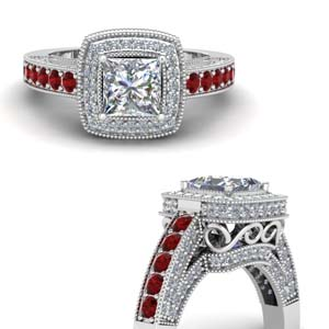 princess cut traditional square halo diamond engagement ring with ruby in FDENR7731PRRGRUDRANGLE3 NL WG.jpg