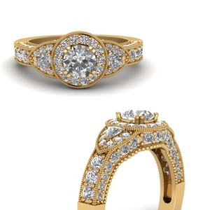 Art Deco Milgrain Diamond Ring