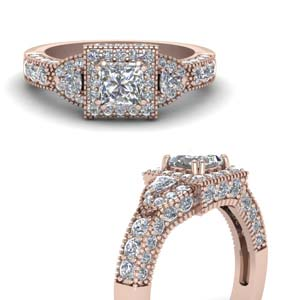 Square Art Deco Diamond Ring