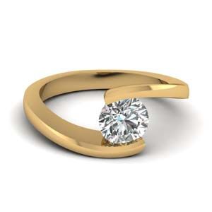 tension set solitaire engagement ring in FDENR7806ROR NL YG