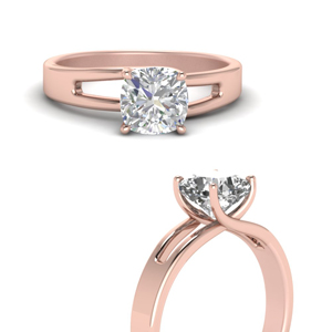 Classic Cushion Diamond Solitaire Rings