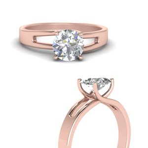Rose Gold Prong Solitaire Ring