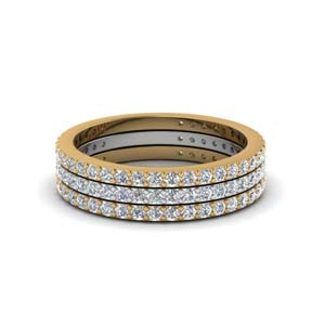 2 Tone Stackable Diamond Band